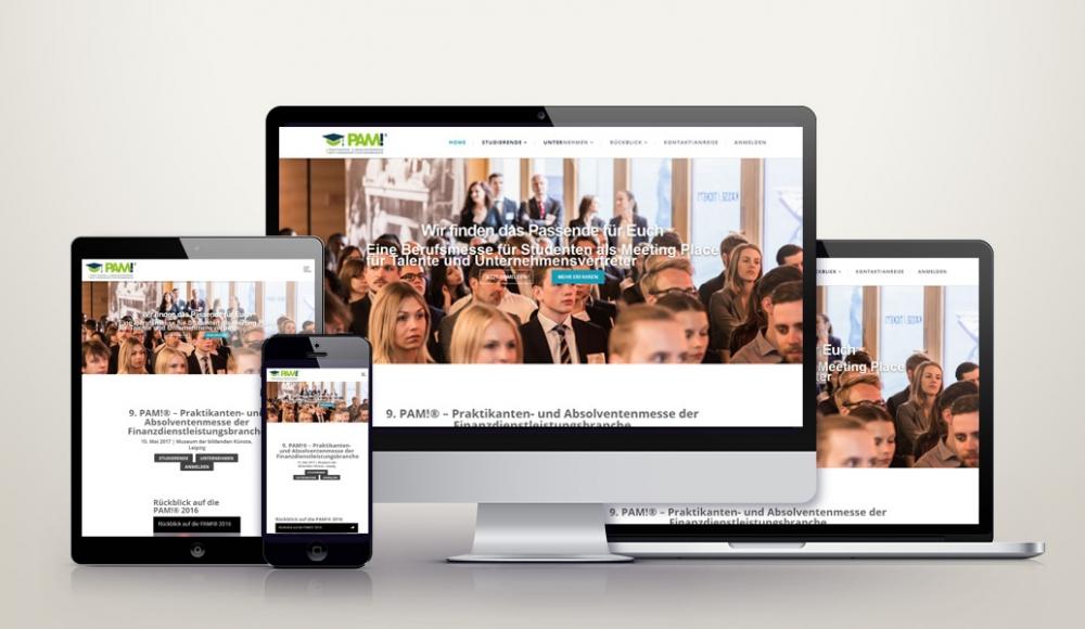 Responsive Wordpress Webdesign für absolventenmesse.net