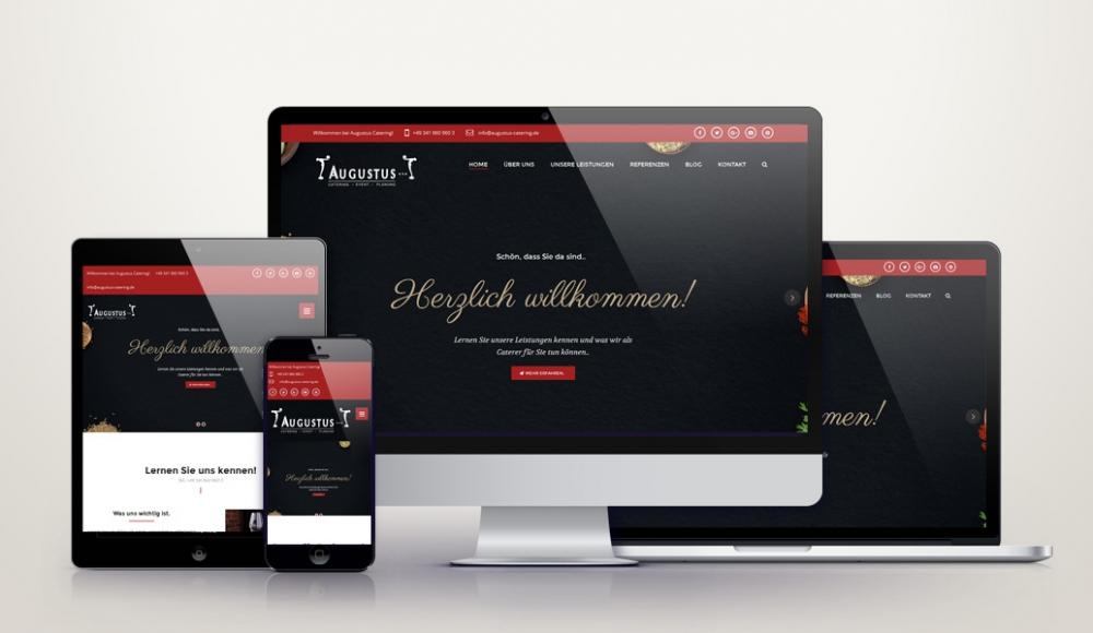 Responsive Wordpress Webdesign für augustus-catering.de