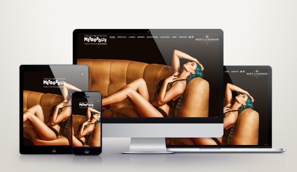 Responsive Wordpress Webdesign für tabledanceclub.de