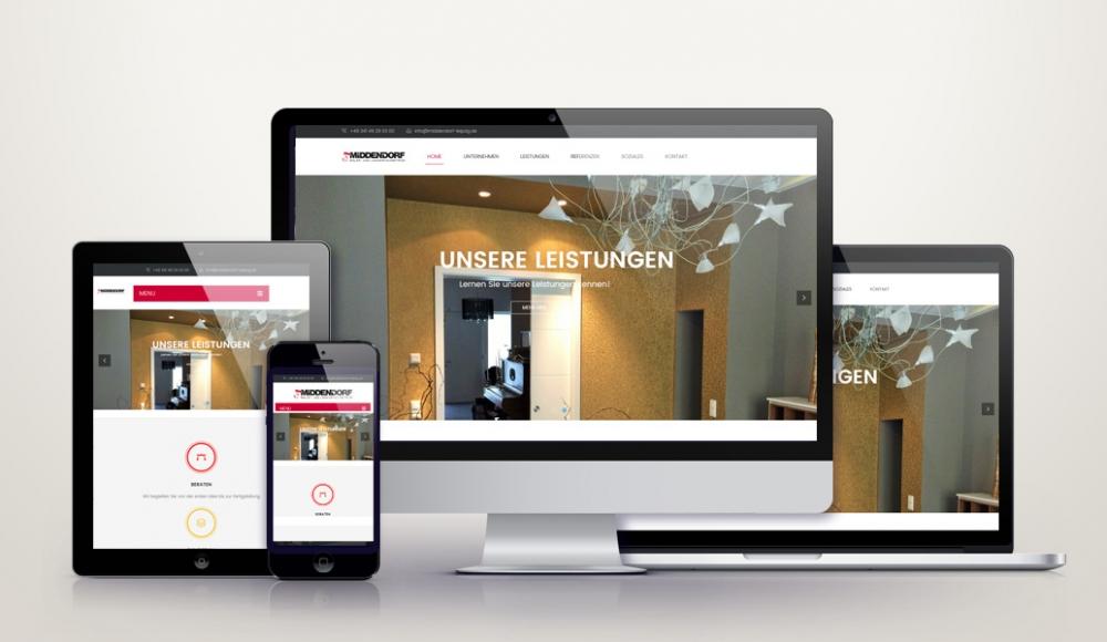 Responsive Wordpress Webdesign für middendorf-leipzig.de