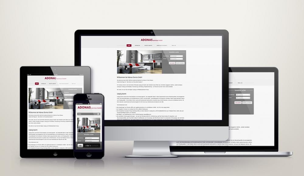 Wordpress mit responsive Design für adonas.de