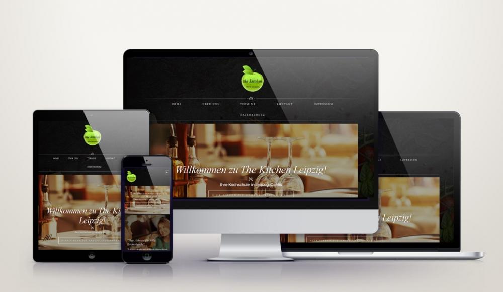 Responsive Wordpress Webdesign für the-kitchen-leipzig.de